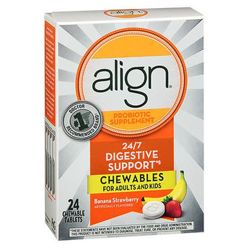 Align Probiotic Supplement Chewable Tablets Banana Strawberry 24 Each by Align Align Probiotic Supplement Chewable Tablets Banana Strawberry 24 Each by Align
