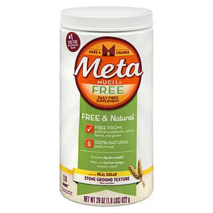 Meta Mucil Free Daily Fiber Supplement Powder Stone Ground Texture