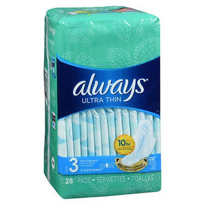 Always Ultra Thin Pads With Flexi-Wings Extra Long Super Absorbency Size 3