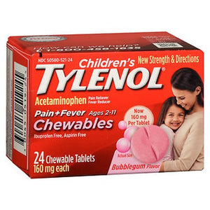 Tylenol Children's Pain + Fever Chewables Tablets Bubblegum Flavor