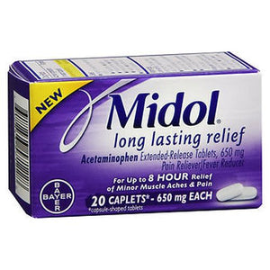 Midol Long Lasting Relief Caplets 20 Caplets | 650mg Each
