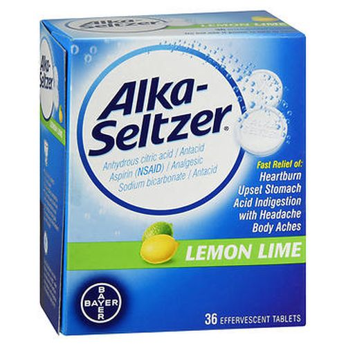 AlkaSeltzer Effervescent Tablets Lemon Lime 36 Tabs by AlkaSeltzer AlkaSeltzer Effervescent Tablets Lemon Lime 36 Tabs by AlkaSeltzer