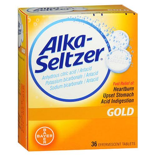 AlkaSeltzer Effervescent Tablets Gold 36 Tabs by AlkaSeltzer AlkaSeltzer Effervescent Tablets Gold 36 Tabs by AlkaSeltzer