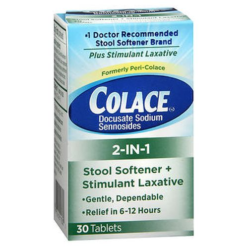 Colace 2in1 Tablets 30 Tabs by Colace Colace 2in1 Tablets 30 Tabs by Colace