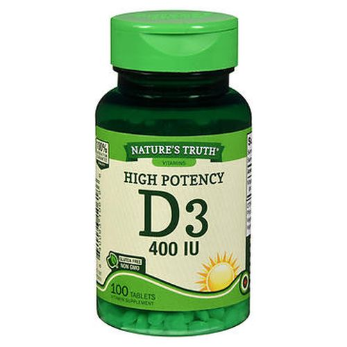 NatureS Truth High Potency D3 Vitamin Tablets 100 Tabs by Natures Truth NatureS Truth High Potency D3 Vitamin Tablets 100 Tabs by Natures Truth