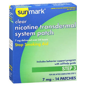 Sunmark Clear Nicotine Transdermal System Patches Step 3