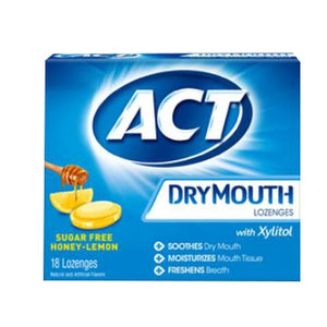 Act Dry Mouth Lozenges Sugar Free Honey-Lemon