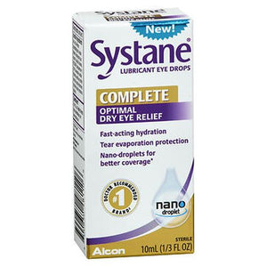 Systane Complete Optimal Dry Eye Relief Lubricant Eye Drops