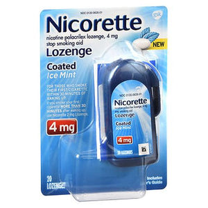 Nicorette Nicotine Polacrilex Lozenges Coated Ice Mint