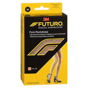 Futuro Medical Compression Firm Pantyhose Nude Medium 1 Each by 3M