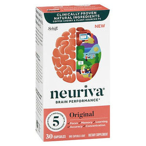Schiff Neuriva Brain Performance Capsules Original 30 Caps by Schiff