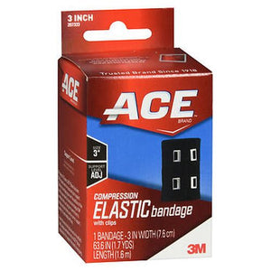 Ace Compression Elastic Bandage With Clips 3 Inch