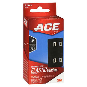 Ace Compression Elastic Bandage with Clips 4 Inch 1 Each by 3M
