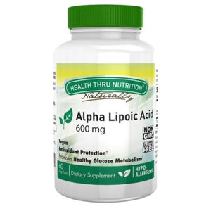 Alpha Lipoic 600 mg 60 Vegi Caps by Health Thru Nutrition