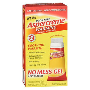Aspercreme Warming Pain Relieving Gel