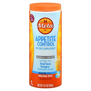 Meta Appetite Control Powder Sugar-Free Orange Zest 14.7 Oz by Metamucil