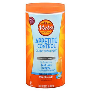 Meta Appetite Control Powder Sugar-Free Orange Zest 23.3 Oz by Metamucil