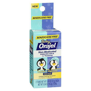 Baby Orajel Non-Medicated Cooling Gels for Teething Daytime & Nighttime