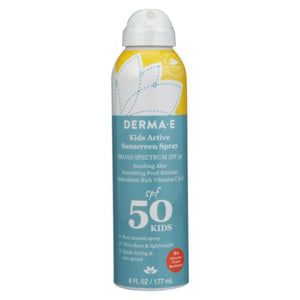 Kids Active Sunscreen Spray SPF 50 6 Oz by Derma e