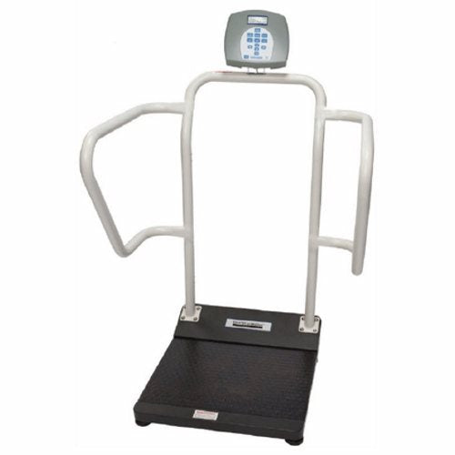 Platform Scale Health O Meter Digital LCD Display 1000 lbs. / 474 kg AC Adapter / Battery Operated 1 Each by Health O Meter Display: 1 ?%XE2%X80? / 38 mm High-Contrast Color TFT-LCD ScreenPower Source: AC Adapter / Battery OperatedConnectivity: USB, Optional BluetoothFunctions: LB / KG Conversion, LB / KG Lock Out, Body Mass Index (BMI), Zero, Tare, Hold / Release, Reweigh, Auto Zero, Auto Off, Time/Date, Variable Auto Off Time, Audible/Mute Sound OptionWarranty: 2 Year Limited Warranty - Eligible for ScaleSurance Extended WarrantyEverlock: Option that allows users to permanently lock the scale in either LB or KG to improve safety