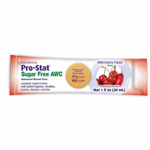 Protein Supplement Wild Cherry Punch Flavor 1 oz. - 1 Each by Medical Nutrition Advanced Wound Care, complete liquid protein with Arginine, Citrulline, Cystine, Vitamin C and ZincClinically supported in 1 published trail to promot wound healing in stage 3 and 4 pressure injuriesContains 17 grams of protein and 100 calories in 1 oz
