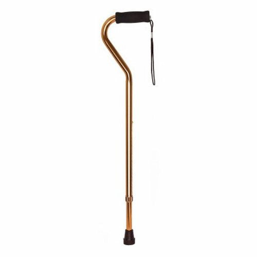 Offset Cane McKesson Aluminum 30 to 39 Inch Height Bronze Bronze 1 Each by McKesson