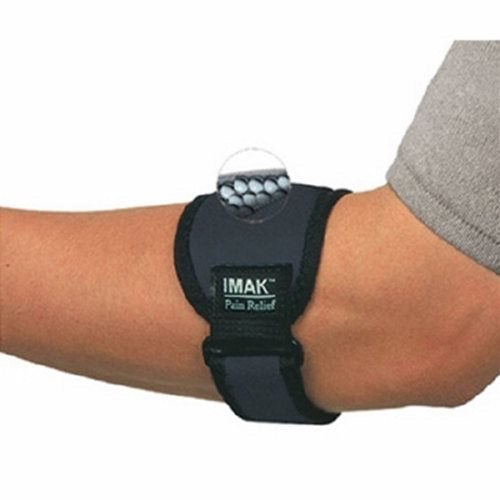 Elbow Band IMAK RSI One Size Fits Most Buckle and hook and loop strap Left or Right Arm - Black 1 Each by Brownmed
