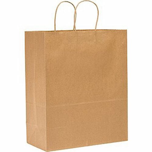 Shopping Bag General Supply Brown Kraft Paper Case of 250 by Lagasse
