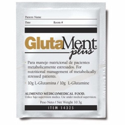 Oral Supplement GlutaMent Neutral Flavor 10.3 Gram Container Individual Packet Powder - 10.3 Grams by Medtrition GlutaMent is specifically formulated to provide the nutrients for the dietary management of conditions associated with impaired gastrointestinal function or impaired immune function