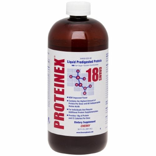 Oral Protein Supplement Proteinex Cherry Flavor 30 oz. Container Bottle Ready to Use - 1 Each by Proteinex Does not contain fat, sugar, carbohydratesProvides all essential and non essential amino acids