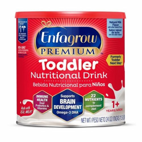 Pediatric Oral Supplement Natural Milk Flavor 24 oz - 1 Each by Mead Johnson Milk-based nutritional drink for growing toddlers ages 1 year & upNon-GMO - not genetically engineered