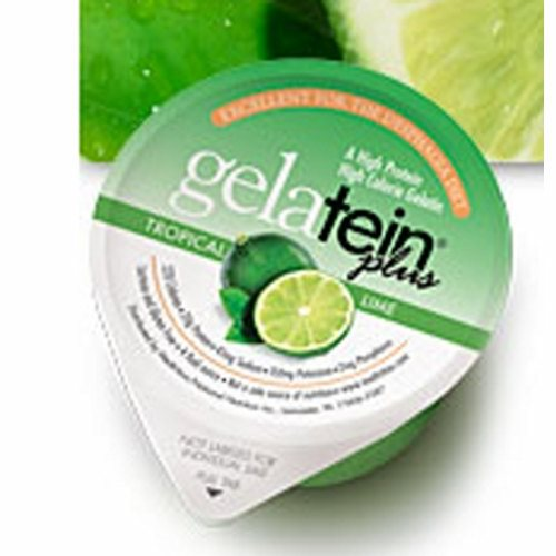 Oral Supplement Gelatein Plus with MCT Oil Tropical Lime Flavor 4 oz. Container Cup Ready to Use - Case of 36 by Medtrition ProSource Gelatein Plus MCT oil is a ready-to-serve gelatin dessert with 220 calories and 20 gram of protein for patients who require extra caloriesTropical Lime Gelatein Plus is made with MCT oil (medium chain triglycerides), the preferred fuel source by healthcare professionals because the shorter chain fats are readily absorbed directly thru the portal vein to the liver where they are quickly converted to energy, similar to carbohydrates but without increasing blood glucose