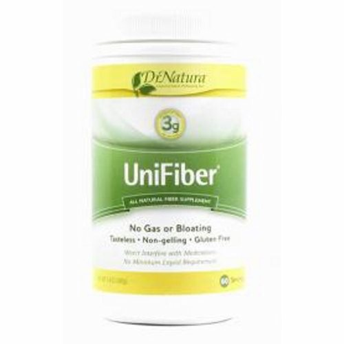 Fiber Supplement UniFiber Unflavored Powder 8.4 oz. 80% Strength Powdered Cellulose - 1 Each by Alaven Doctor recommended for relief of occasional constipationUnlike many other fiber supplements, UniFiber is an insoluble fiberCan be taken with other medications and vitamins without altering their effectivenessCan be taken without liquids.Add UniFiber to your favorite recipe - it is tasteless and doesnt change the flavor of cooked or baked food