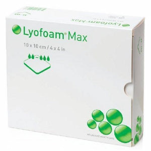 Foam Dressing Lyofoam  Max 6 X 6 Inch Square Non-Adhesive without Border Sterile 10 Count by Molnlycke