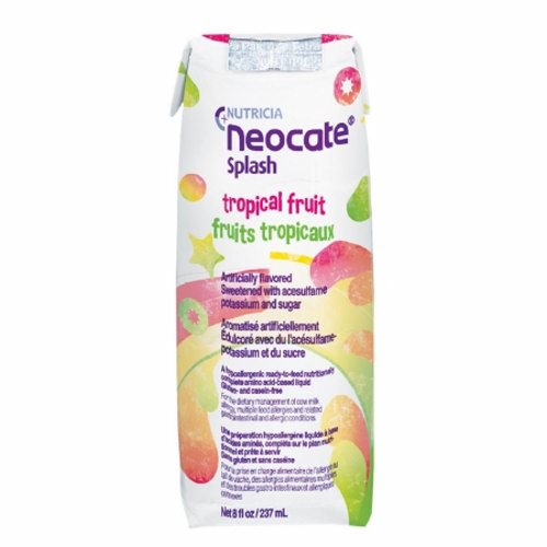 Pediatric Oral Supplement / Tube Feeding Formula - 8 Oz by Nutricia North America Neocate Splash is a hypoallergenic, ready-to-feed, nutritionally-complete amino acid-based medical food for individuals over the age of 1Hypoallergenic, amino acid-based formula in a liquid formConvenient, ready-to-drink packagingHas a mild, pleasant taste and is ideal for tube feeding or oral administrationGluten- and casein-freeDoes not contain soy oil