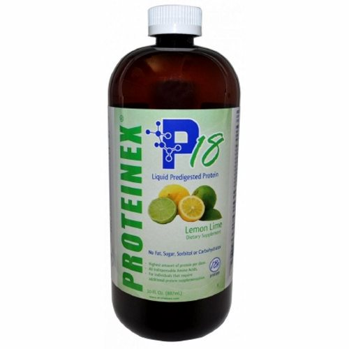 Oral Protein Supplement Proteinex Lemon-Lime Flavor 30 oz. Container Bottle Ready to Use - 1 Each by Proteinex Does not contain fat, sugar, carbohydratesProvides all essential and non essential amino acids