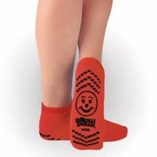 Slipper Socks Pillow Paws Risk Alert Terries 2X-Large Red Ankle High - Case of 48 by Principle Business Enterprises Pillow Paws Risk Alert Terries Slipper Socks follows the Arizona Standard%XE2%X80? for color-coding patients to conditionThe color red alerts caregivers to consult the patients chart for information relating to an allergic conditionDouble imprintUnisex