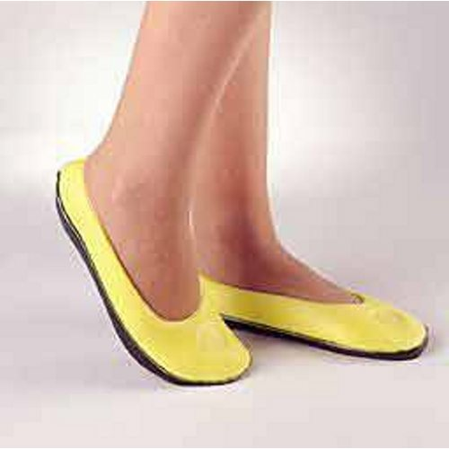 Slippers Pillow Paws Small Lemon Below the Ankle - Lemon 1 Pair by Principle Business Enterprises Made of high quality, lightweight, nonskid foam with a smile face on top of each slipperUnisex
