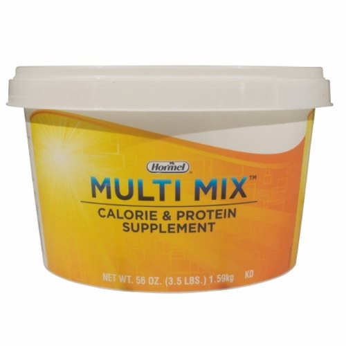 Oral Protein Supplement Multi Mix Calorie & Protein Unflavored 3.5 lbs. Tub Powder - 1 Each by Hormel Food Sales A great tasting milk based powder that is easily added to many foodsA simple way to add calories and protein to food