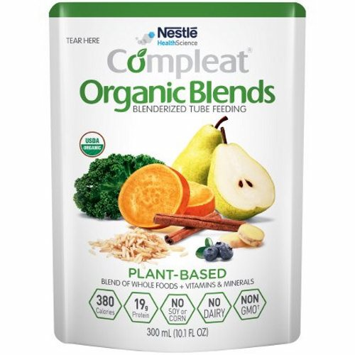 Oral Supplement / Tube Feeding Formula - 10.1 Oz by Nestle Healthcare Nutrition Made with a variety of blenderized organic whole foods including sweet potato, pear, brown rice, blueberries, and kaleNot for parenteral useThis product is intended for use under medical supervisionComplete plant-based protein blend provides a PDCAAS of 1Blend of organic olive oil and organic canola oil provides oleic acid, linoleic acid (LA), and alpha-linolenic acid (ALA)ùan omega-3 fatty acidFiber provided by fruits, vegetables, and grain to support normal bowel function and digestive healthOrganic, Non-GMO, no dairy, no soy, no cornProvides approximately 3 cup equivalents of fruits and vegetables in 1000 mLNutritionally complete formula for tube feeding or can be consumed orally as a savory beverageShort or long-term tube feeding for those who prefer an organic formula with real whole foodsMay help address feeding intolerance common in individuals with developmental disabilities