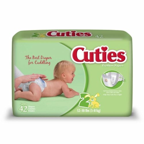 Unisex Baby Diaper Size 2, Case of 168 by First Quality