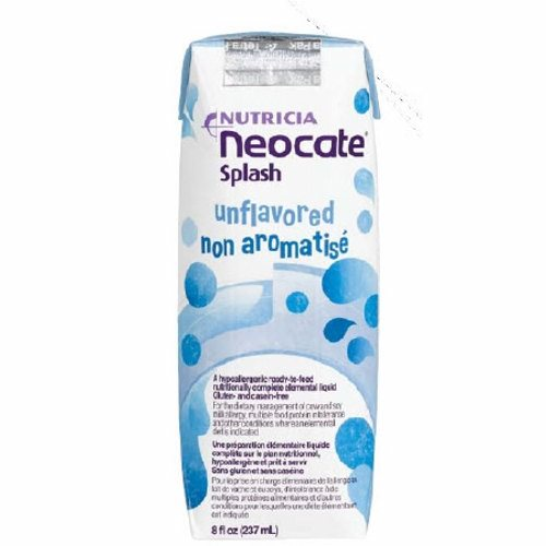 Pediatric Oral Supplement / Tube Feeding Formula - Unflavored, 8 Oz by Nutricia North America Neocate Splash is a hypoallergenic, ready-to-feed, nutritionally-complete amino acid-based medical food for individuals over the age of 1Hypoallergenic, amino acid-based formula in a liquid formConvenient, ready-to-drink packagingHas a mild, pleasant taste and is ideal for tube feeding or oral administrationGluten- and casein-freeDoes not contain soy oil