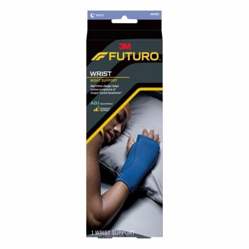 Night Wrist Support - Case of 12 by 3M Helps relieve night time hand and wrist pain due to carpal tunnel syndrome, post-cast and arthritisMoisture-wicking, soft material to keep your wrist comfortable overnightCushioning beads support ideal neutral hand position during rest