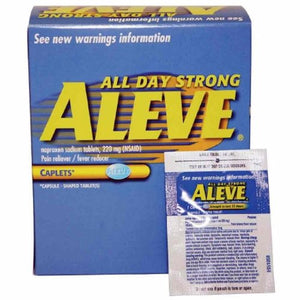 Pain Relief Aleve  220 mg Strength Naproxen Sodium Caplet 100 per Bottle