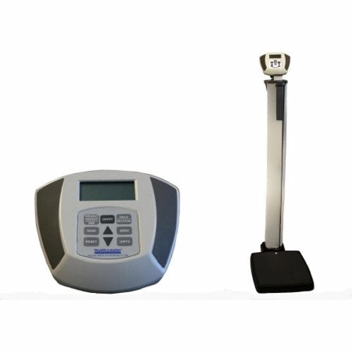 Platform Scale w Height Rod Health O Meter Digital Display 600 lbs. AC Adapter / Battery Operated 1 Each by Health O Meter EMR ConnectivityAutomatically Calculates Weight, Height and Body Mass IndexBuilt-in Digital Display Height RodLow Profile PlatformHigh Capacity for Bariatric Use1%XE2%X80? LCD, 350? Swivel2 Wheels for ease of movement