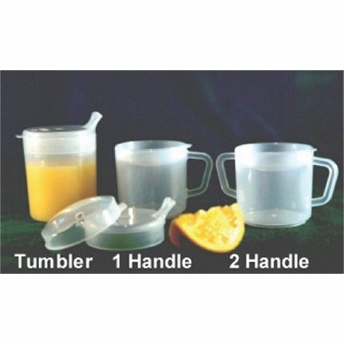 Tumbler 8 oz - 1 Each by Fabrication Enterprises Dishwasher SafeComes with two specialty lids to suit every needThe spout lid has a contoured spout to fit comfortably in the mouthThe anti splash lid prevents splashing and helps to direct the flow of liquid into the mouthBoth lids allow the flow of liquid to be regulated and can be used with a straw
