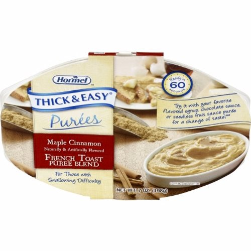Puree Thick & Easy Maple Cinnamon French Toast Flavor  Case of 7 X 7 Oz by Hormel Food Sales Thick and Easy Pureed Microwave Trays are ready when you need themThese nutritious trays are ready in 60 seconds and are easily stored in the dry pantry