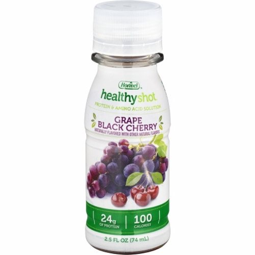 Oral Protein Supplement - Case of 24 by Hormel Food Healthy Shot Protein Beverage Supplement is fruit flavored, clear, clean and refreshingA 2.5 fl. oz. serving supplies 100 calories and 24 grams of high quality proteinIt is also fortified with a select nutrient blend that includes Vitamins A,C,D,E and folic acidIt is a supplement beverage for individuals who require the extra protein without all the calories and fluid volumeIt is ideal for individuals with increased protein needs, during surgical recovery, trauma, wounds, cancer treatment and undergoing dialysis