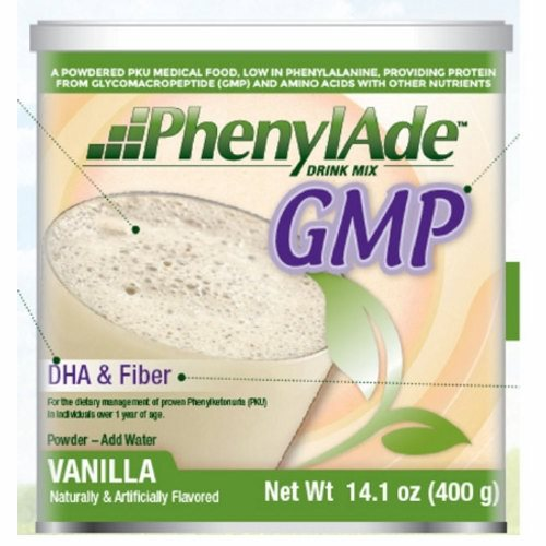 PKU Oral Supplement Vanilla Flavor 400 Gram - 1 Each by Nutricia North America A powdered, vanilla-flavored formula, low in phenylalanine containing a balanced mix of glycomacropeptide (GMP), essential and non-essential amino acids, carbohydrates (including fiber), fat (including docosahexaenoic acid (DHA)), vitamins, minerals and trace elementsMedical food for the dietary management of proven Phenylketonuria (PKU) in individuals over 1 year of ageExcellent source of Calcium & Vitamin D to help build and maintain strong bones and teethCreamy, mild vanilla flavor with a smooth drinkable textureSuitable for toddlers (over 1 year of age), children, teens and adults with phenylketonuria (PKU)