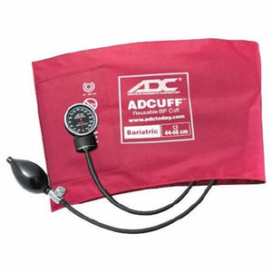 Aneroid Sphygmomanometer with Cuff Bariatric Diagnostix 2-Tubes Pocket Size Hand Held Size 12 Burgundy 1 Each by American Diagnostic Corp